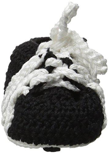 Jefferies Socks Baby-Boys Soccer Cleats Crochet Bootie, Black, Newborn