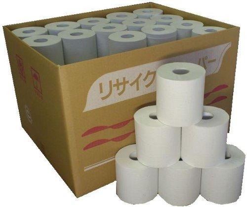[超業務用] 無包装トイレットペーパー シングル100m 60個入り 牧製紙が作る柔らかソフトタイプ! 再生紙100% 安心の国産品(岐阜県にて製造)