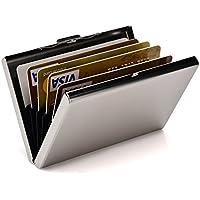 RFID Credit Card Holder Metal Wallet Stainless Steel Slim Credit Card Case Protector for Women or Men