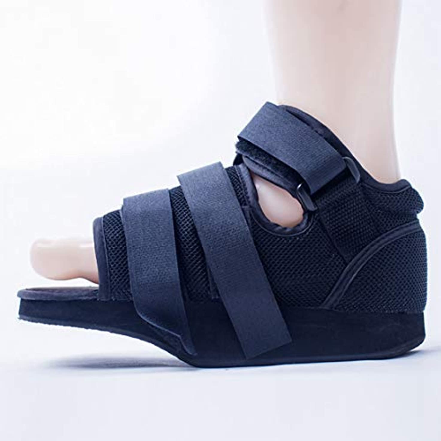 貧しい一見したい医療足骨折石膏の回復靴の手術後のつま先の靴を安定化骨折の靴を調整可能なファスナーで完全なカバー,M25.5cm