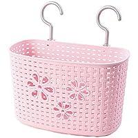 25 CM多目的プラスチック貯蔵バスケット家庭用オーガナイザー、ピンクの花