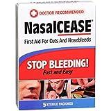Nasalcease FirstAid Nosebleeds, 5-Count Box