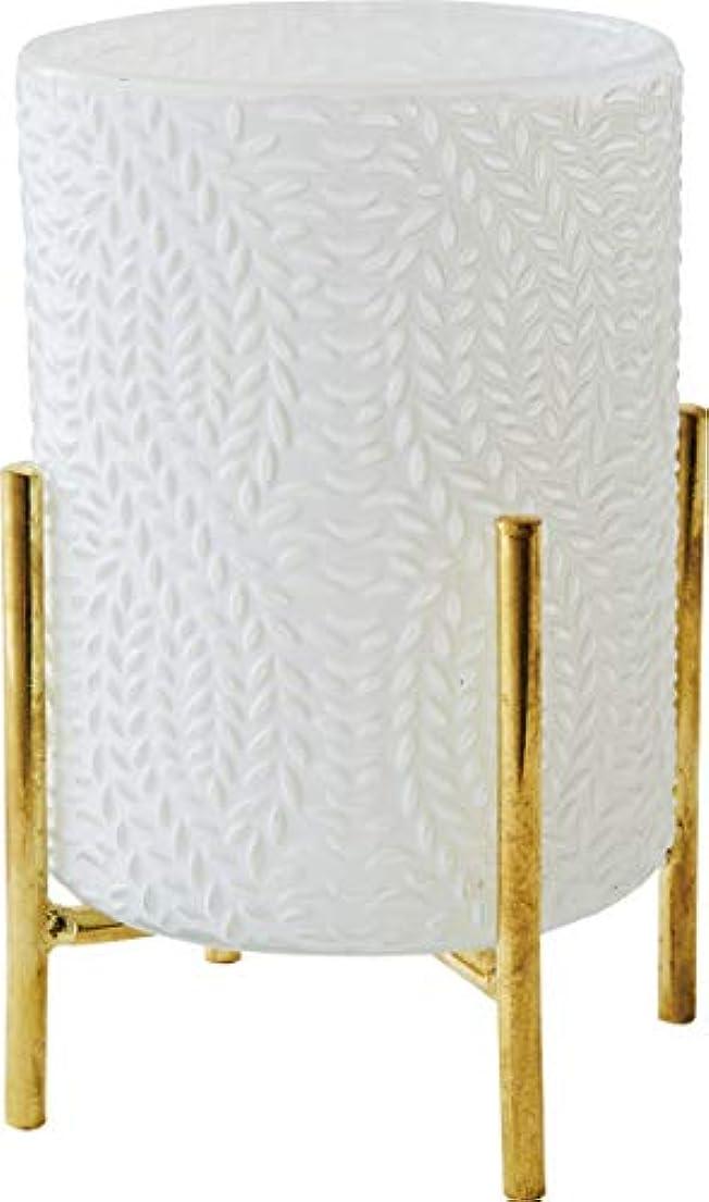 ビタミン肉ブレーキカメヤマキャンドルハウス ホワイトグラス スタンド付き シード 1個
