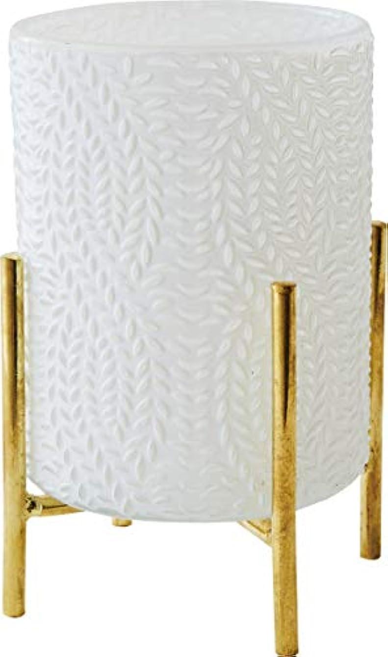 ウェイド専門知識放棄されたカメヤマキャンドルハウス ホワイトグラス スタンド付き シード 1個