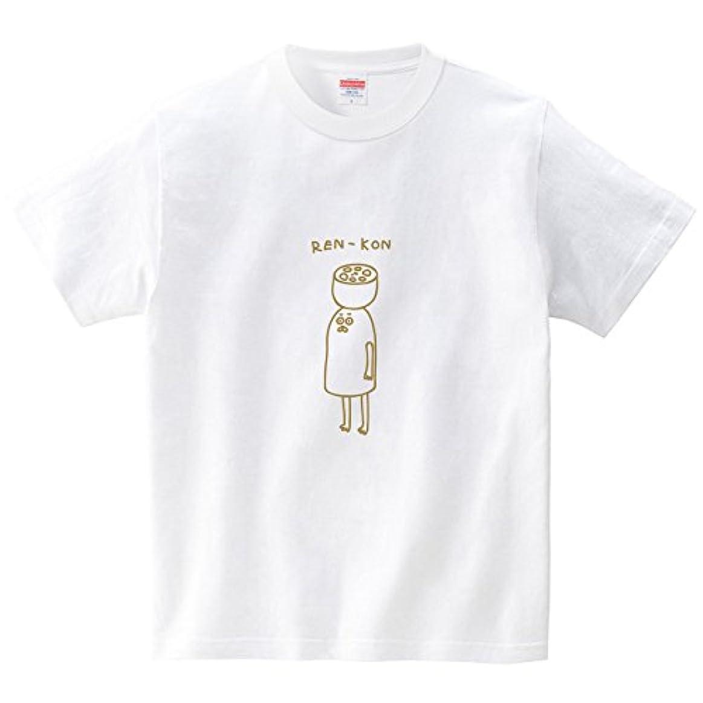 菊ファブリックそして立ち上がるレンコン(Tシャツ?ホワイト) (オワリ)