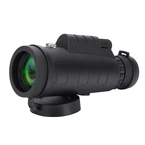 Tsumbayコンパクト40x60単眼鏡 高倍率防水望遠鏡 鳥瞰、野生動物の携帯型高清照準器とHD視力コンパス観察、アウトドア旅行、観光、狩猟/登山/スポーツ観戦