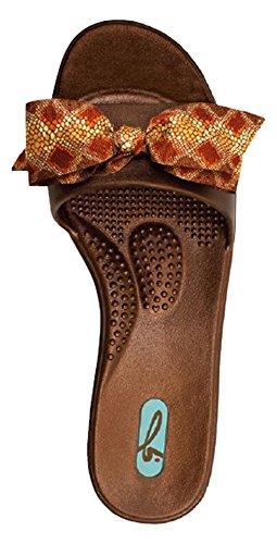 サンダル レディース Madison [マディソン] Copper Snakeskin カッパー・スネイクスキン オカビー