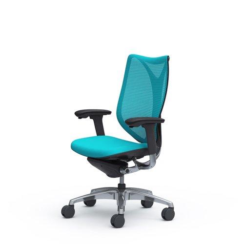 オカムラ サブリナ オフィスチェア スマートオペレーション ハイバック ブラックフレーム ブルーグリーン C883BR-FSZ6