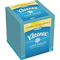 Kleenex - Cool Sensation Facial Tissue, 3-Ply, 50 Tissues/BX, White, Sold as 1 Box, KIM 29388BX by KIMBERLY CLARK