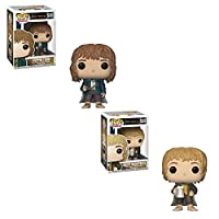 POP Movies The Lord of the Rings:Pippin Took and Merry Brandybuck Toy Action Figure - 2 POP BUNDLE
