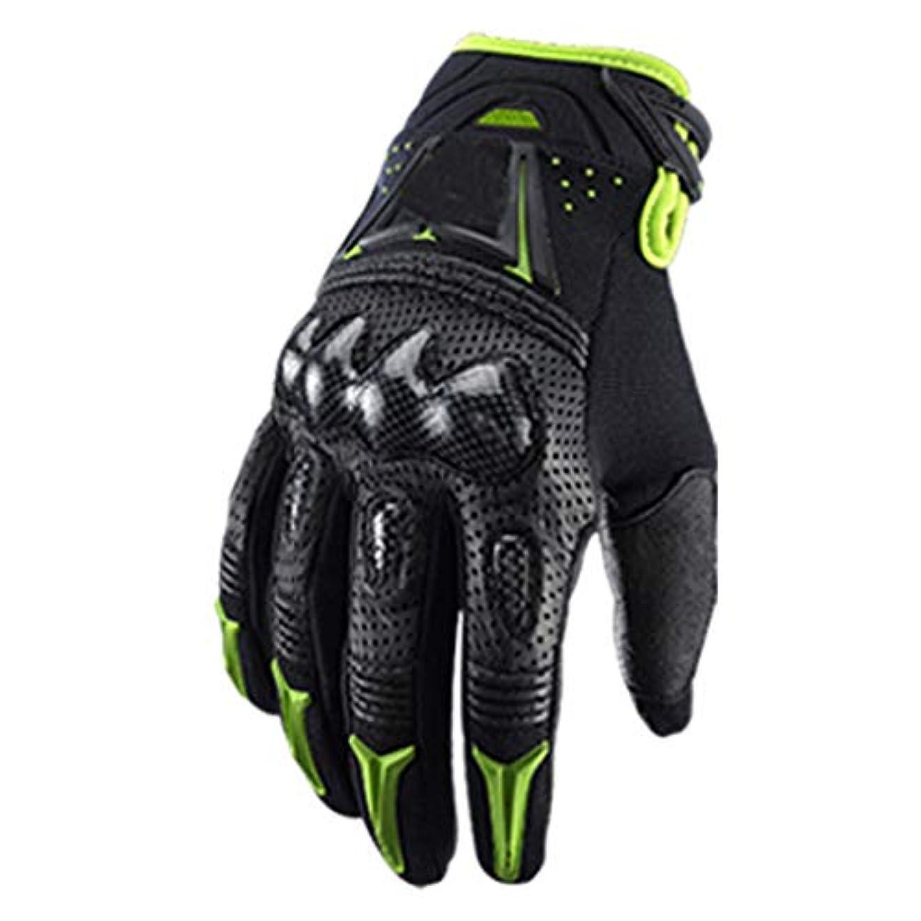 テクスチャー感嘆符ビートAnnis6 通気性の手袋指一杯のオートバイのタッチスクリーンの手袋の保護反落下屋外 (色 : オレンジ, サイズ : L)