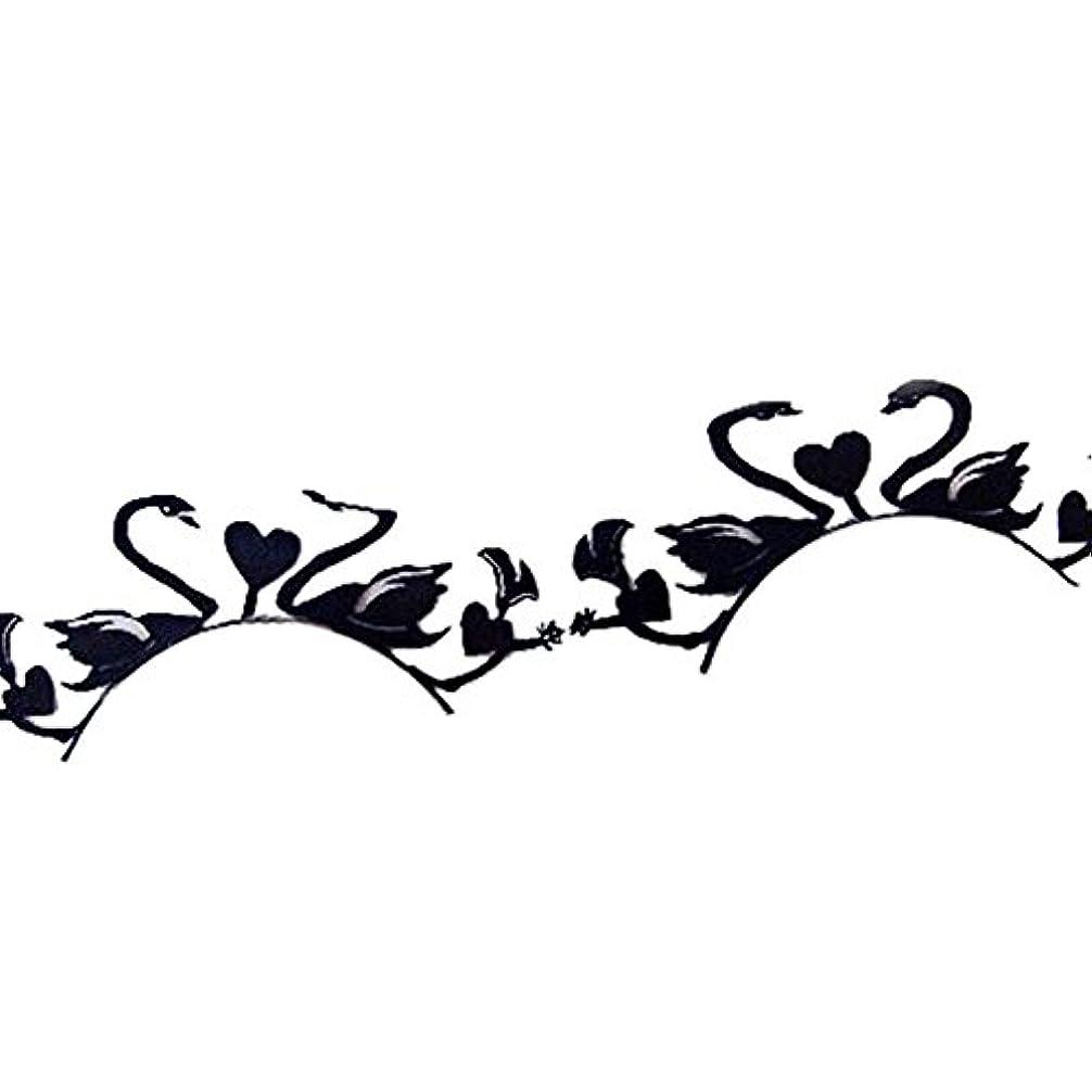 海賊除外する厚さ花嫁紙カットアートスタイルの紙ステージ白鳥と愛まつげ