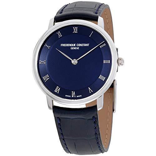 [フレデリックコンスタント]FREDERIQUE CONSTANT メンズ シルバーケース ブルー文字盤 39mm ブルー レザー FC-200RN5S36 腕時計 [並行輸入品]