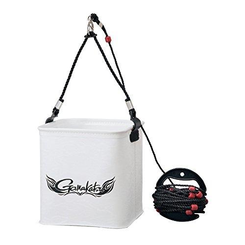 がまかつ(Gamakatsu) バッカン 水汲みバケツ (ロープ巻付) 大 ホワイト GM-2440