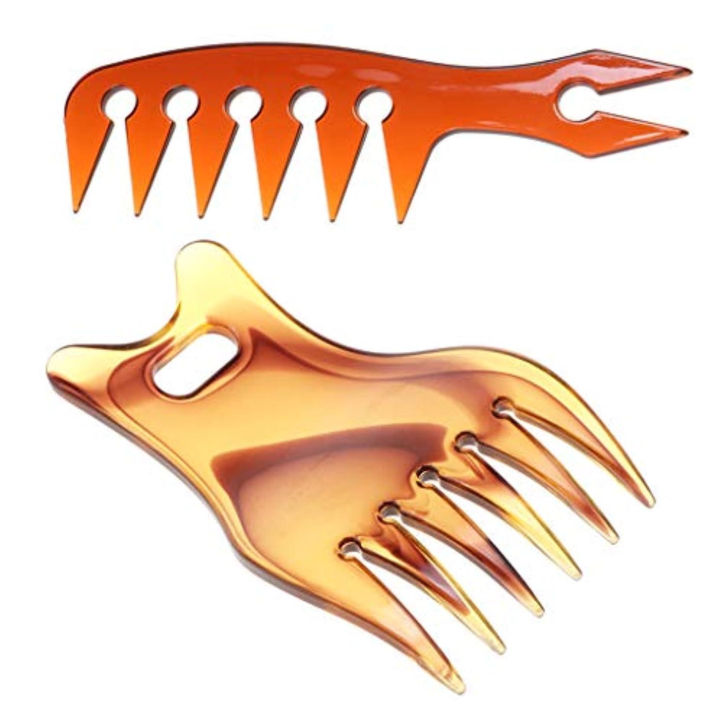 彫刻家ハイジャックにやにやヘアコーム オイリーヘアコーム 広い歯 毛櫛 ヘアダイコーム プラスチック 帯電防止 耐熱性