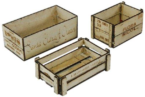 Cobaanii mokei工房 コバアニ模型工房 1/12 ウッデンボックス 3アイテム 木製組立キット / WF-001