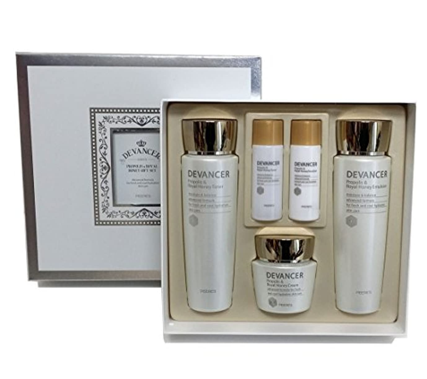 トンネル予想外桃[DEVANCER] プロポリス&ロイヤルハニーギフトスキンケアセット/Propolis & Royal Honey gift Skincare set/水分、ホワイトニング/moisture,whitening/韓国の...