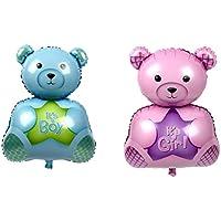 Lovoski 誕生日 パーティー 装飾 ベビーシャワー 赤ちゃん バルーン 風船 かわいい クマ ホイル 全2色 - ピンク
