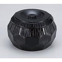(A) 錦亀甲飯器 黒 [ 15.1 x 9cm (750cc) 459g ] 【 越前漆器 】 【 料亭 旅館 和食器 飲食店 業務用 】