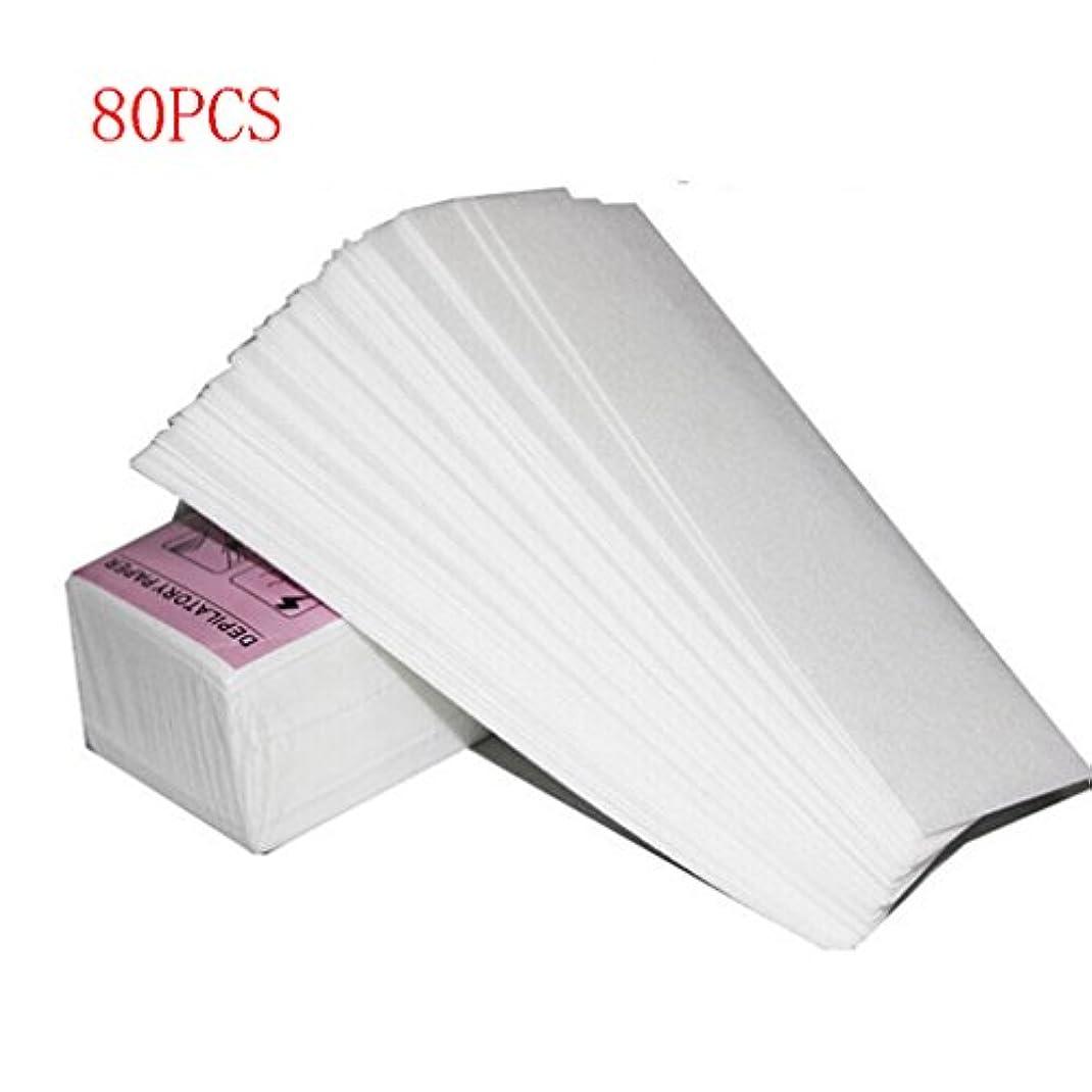 コンパス原始的なにはまってワックス脱毛紙 厚く 耐久性のある 引き裂く スムースワックスシート インスタント脱毛シート 脱毛ワックスシート ワックスストリップ 紙 80回分 大容量