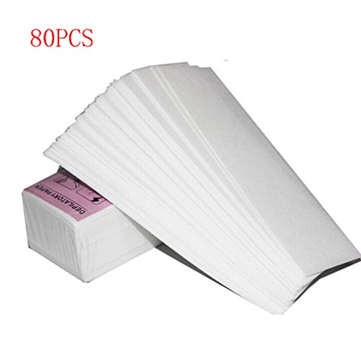 ワックス脱毛紙 厚く 耐久性のある 引き裂く スムースワックスシート インスタント脱毛シート 脱毛ワックスシート ワックスストリップ 紙 80回分 大容量