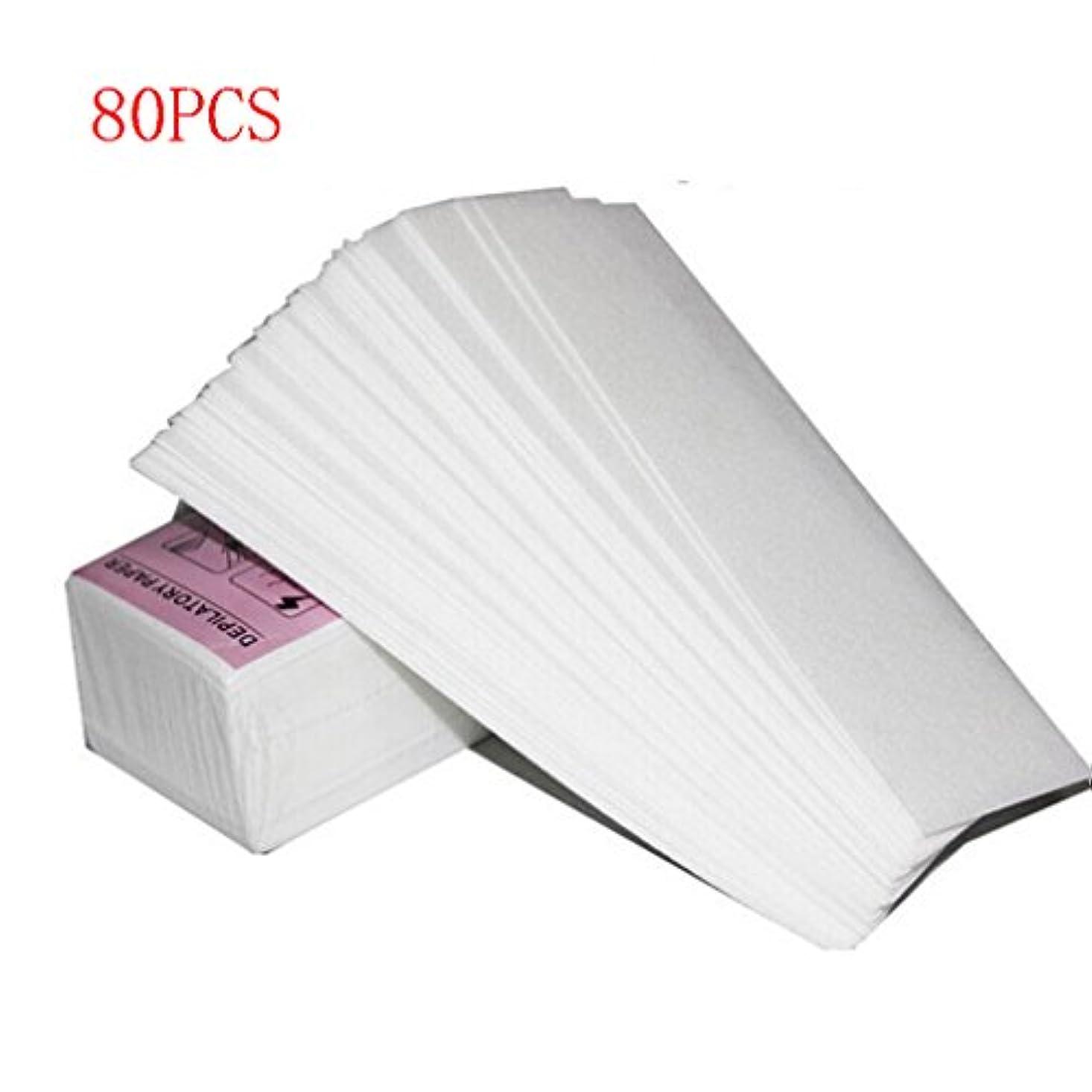 トレースガムレイワックス脱毛紙 厚く 耐久性のある 引き裂く スムースワックスシート インスタント脱毛シート 脱毛ワックスシート ワックスストリップ 紙 80回分 大容量
