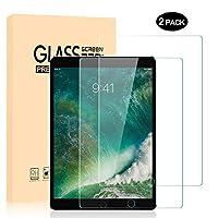スクリーンプロテクターiPad 10.5 / iPad Pro 10.5 2017、Dexnor [2パック]強化ガラス保護HD透明9H硬度耐傷性耐指紋