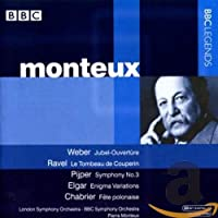ウェーバー:ジャベル序曲/ラヴェル:クープランの墓/ペイペル:交響曲第3番/エルガー:エニグマ変奏曲(モントゥー)(1961-1963)