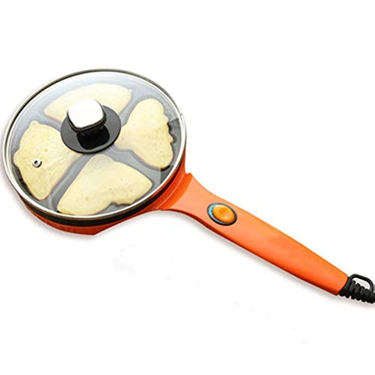 散髪米ドルアクションマルチサンドメーカー ケーキマシン家庭自動ミニ卵メーカー自動シャットダウンダブル暖房を両面 安全でクリーンに簡単に (色 : Orange, Size : 44x20x12cm)
