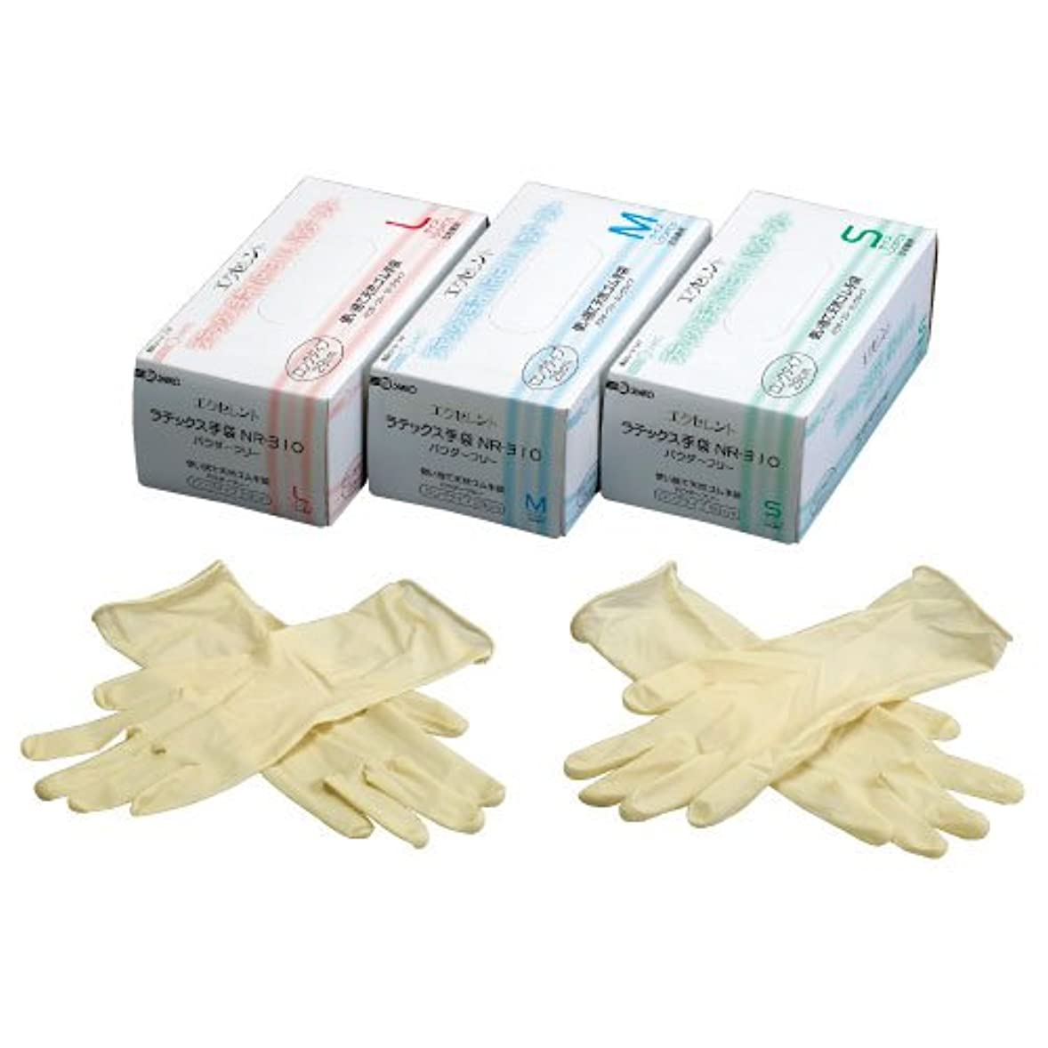 オープナー徴収懇願するエクセレントラテックス手袋PFロング ????????????????(23-3140-00)NR-310(100????)M M