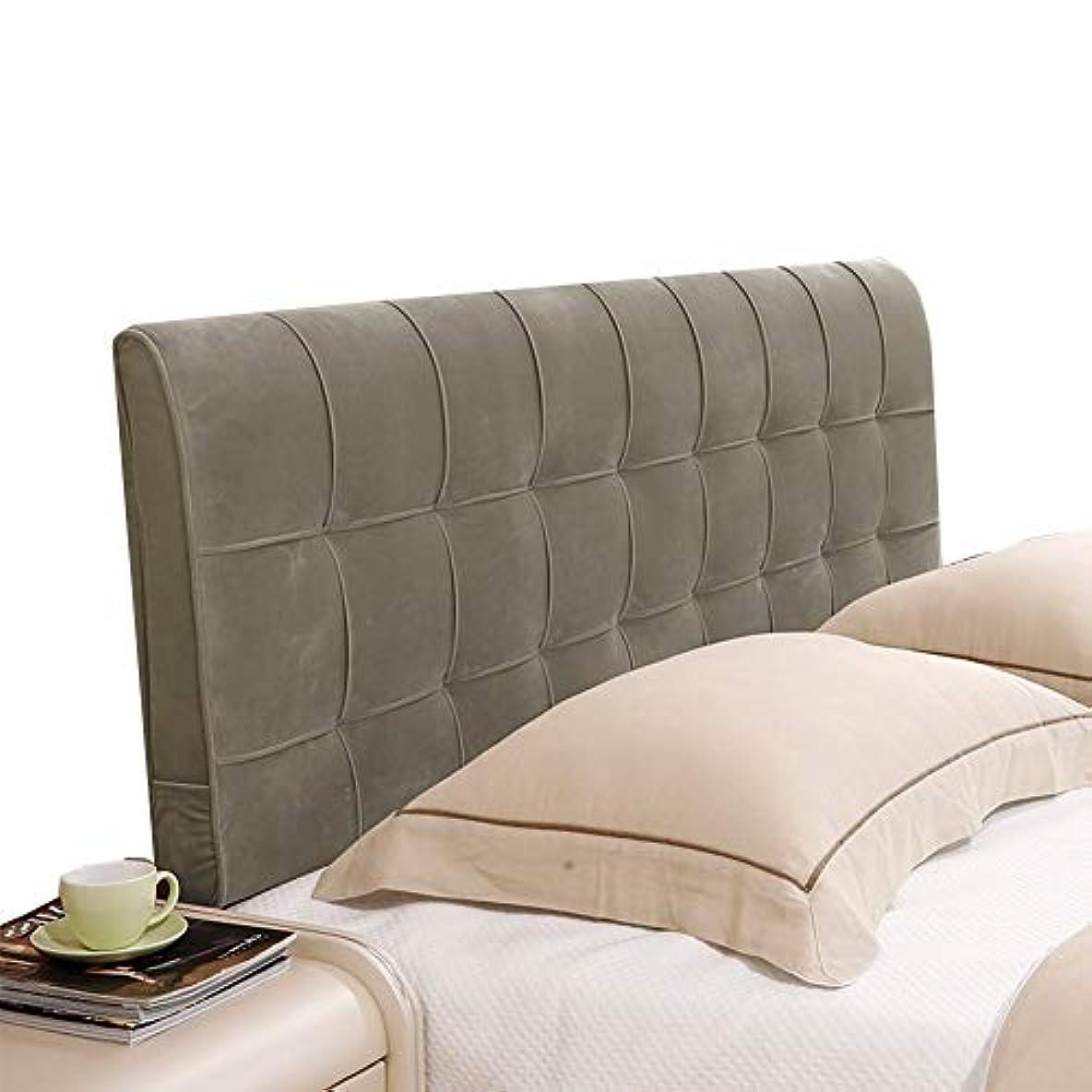 サミュエルミルクマウスLIANGLIANG クションベッドの背もたれスポンジ充填寝室ダブル特大ベッドヘッドレスト快適なバックサポート洗える、4色、14サイズ (色 : ブロンズ, サイズ さいず : 140x58x10cm)
