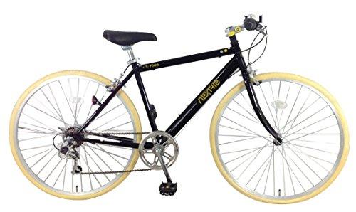 otomo(オオトモ) NEXTYLE (ネクスタイル)700Cクロスバイク シマノ6段変速 可動式ステム 前輪クリックリリース NX-7006 ブラック