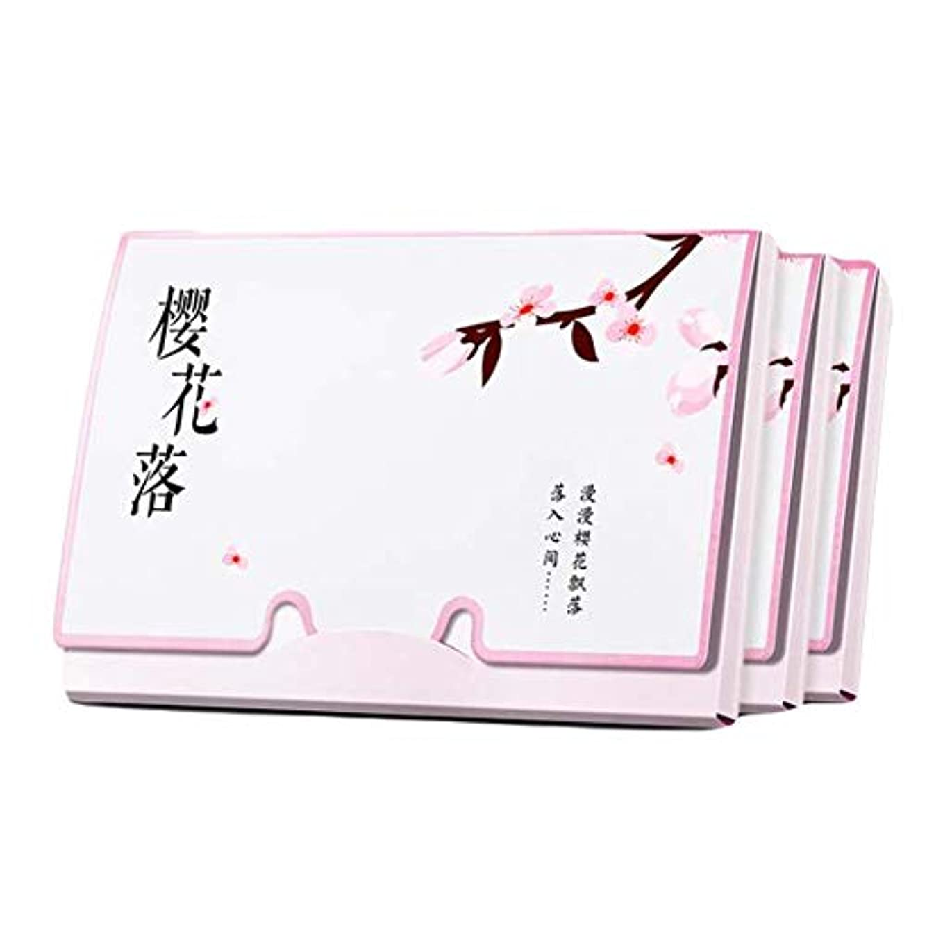 睡眠バイバイ遊びます桜の女性ピンクの顔のオイル吸収シート、300枚