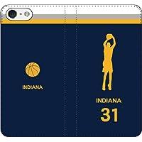iPhone7/7Plus対応/iPhone用選択可:バスケットシルエット手帳ケース(フルカラー/アウェイ/インディアナ:31番_A) iPhone6/6s用