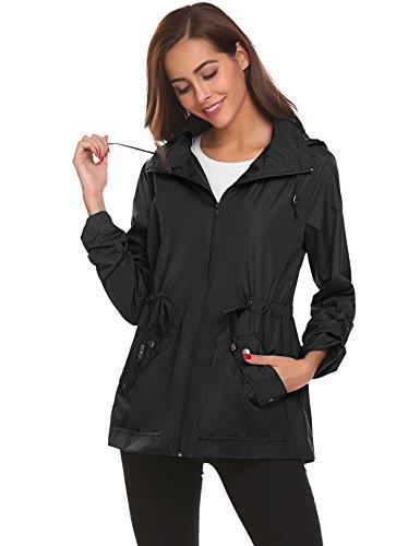 Women Rain Coat Windproof Lightweight Jacket Womens Thin Tall Rain Coats For Lady xxl