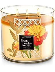 【Bath&Body Works/バス&ボディワークス】 アロマキャンドル ハニーサックルブーケ 3-Wick Scented Candle Honeysuckle Bouquet 14.5oz/411g [並行輸入品]