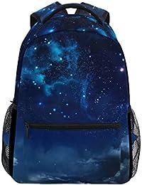 35d7e4a1be19 Anmumi リュックサック 学生 リュック 高校生 レディース バックパック 子供 宇宙柄 星柄 大容量
