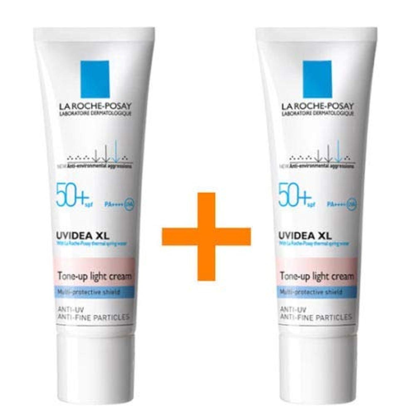 私たち自身うがい薬オプショナル[ 1 + 1 ] La Roche-Posay ラロッシュポゼ UVイデア XL プロテクショントーンアップ Uvidea XL Tone-up Light Cream (30ml)
