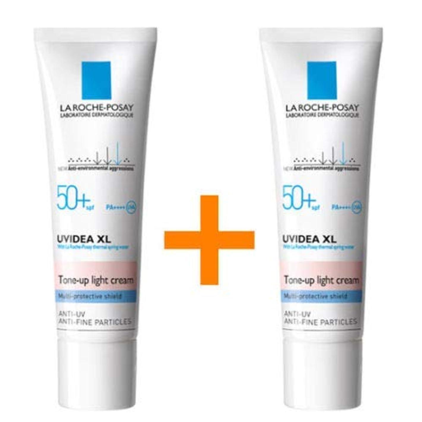 絶望的な割る説明する[ 1 + 1 ] La Roche-Posay ラロッシュポゼ UVイデア XL プロテクショントーンアップ Uvidea XL Tone-up Light Cream (30ml)