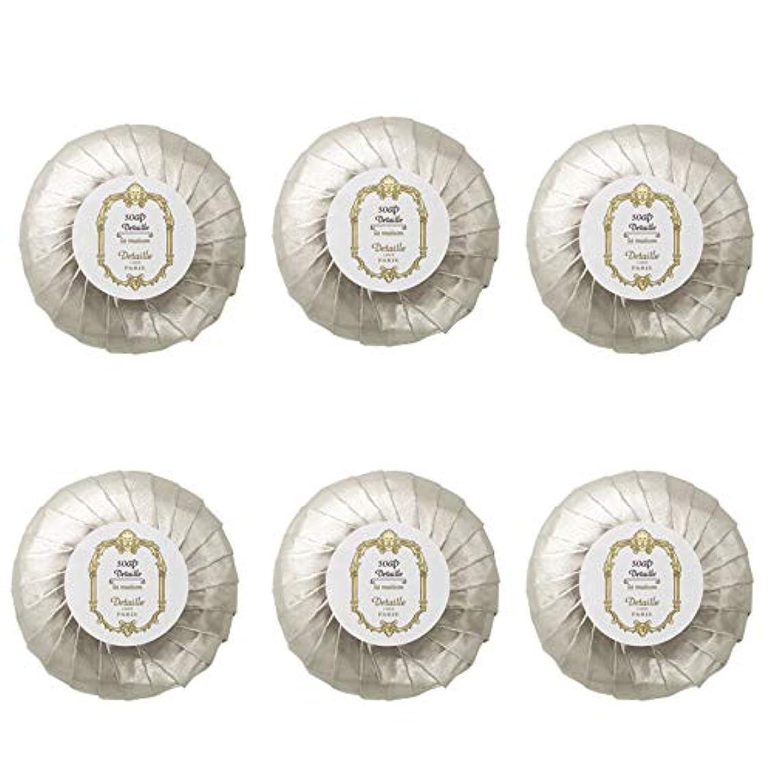ハリケーンねじれ信頼性のあるPOLA デタイユ ラ メゾン スキンソープ 固形石鹸 (プリーツ包装) 50g×6個