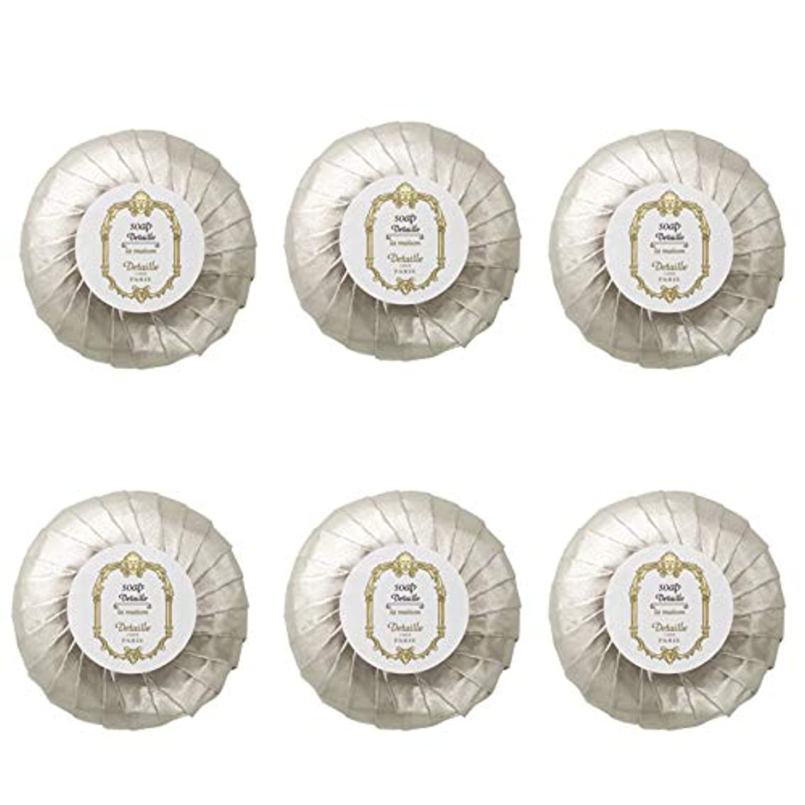 エコー流すペグPOLA デタイユ ラ メゾン スキンソープ 固形石鹸 (プリーツ包装) 50g×6個