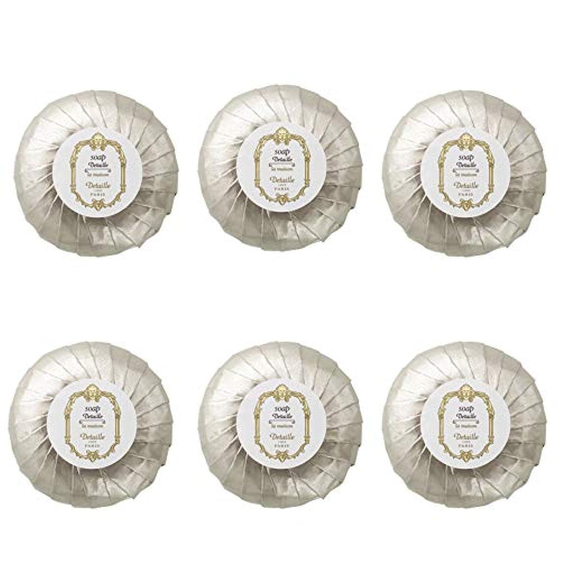 バージン生き残りちょうつがいPOLA デタイユ ラ メゾン スキンソープ 固形石鹸 (プリーツ包装) 50g×6個