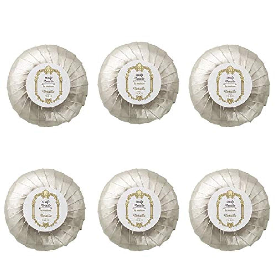 仕出しますクローンレッドデートPOLA デタイユ ラ メゾン スキンソープ 固形石鹸 (プリーツ包装) 50g×6個