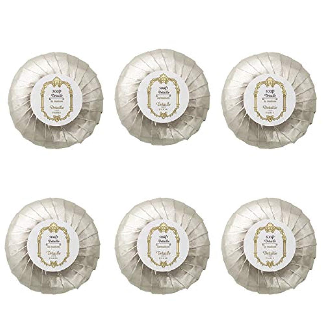 なめらか化石めまいがPOLA デタイユ ラ メゾン スキンソープ 固形石鹸 (プリーツ包装) 50g×6個