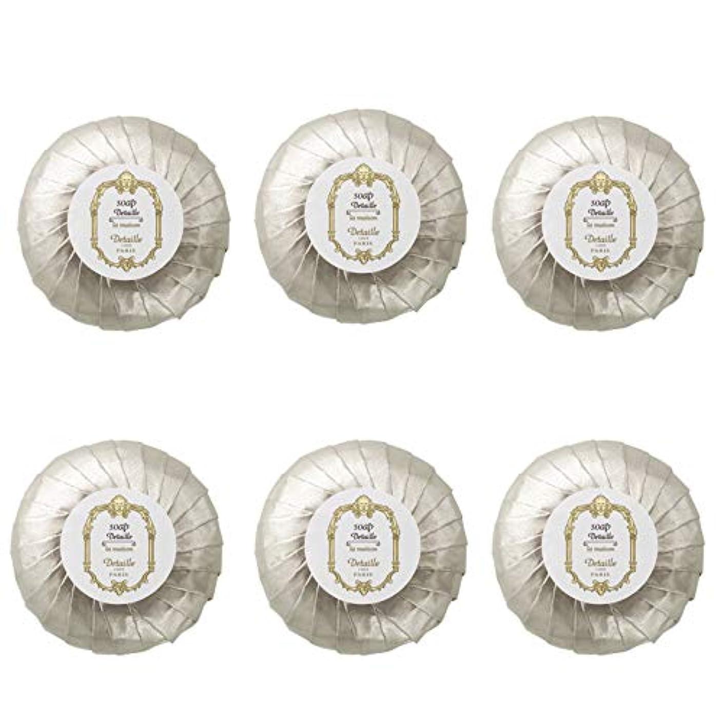 知っているに立ち寄る毛皮コマンドPOLA デタイユ ラ メゾン スキンソープ 固形石鹸 (プリーツ包装) 50g×6個