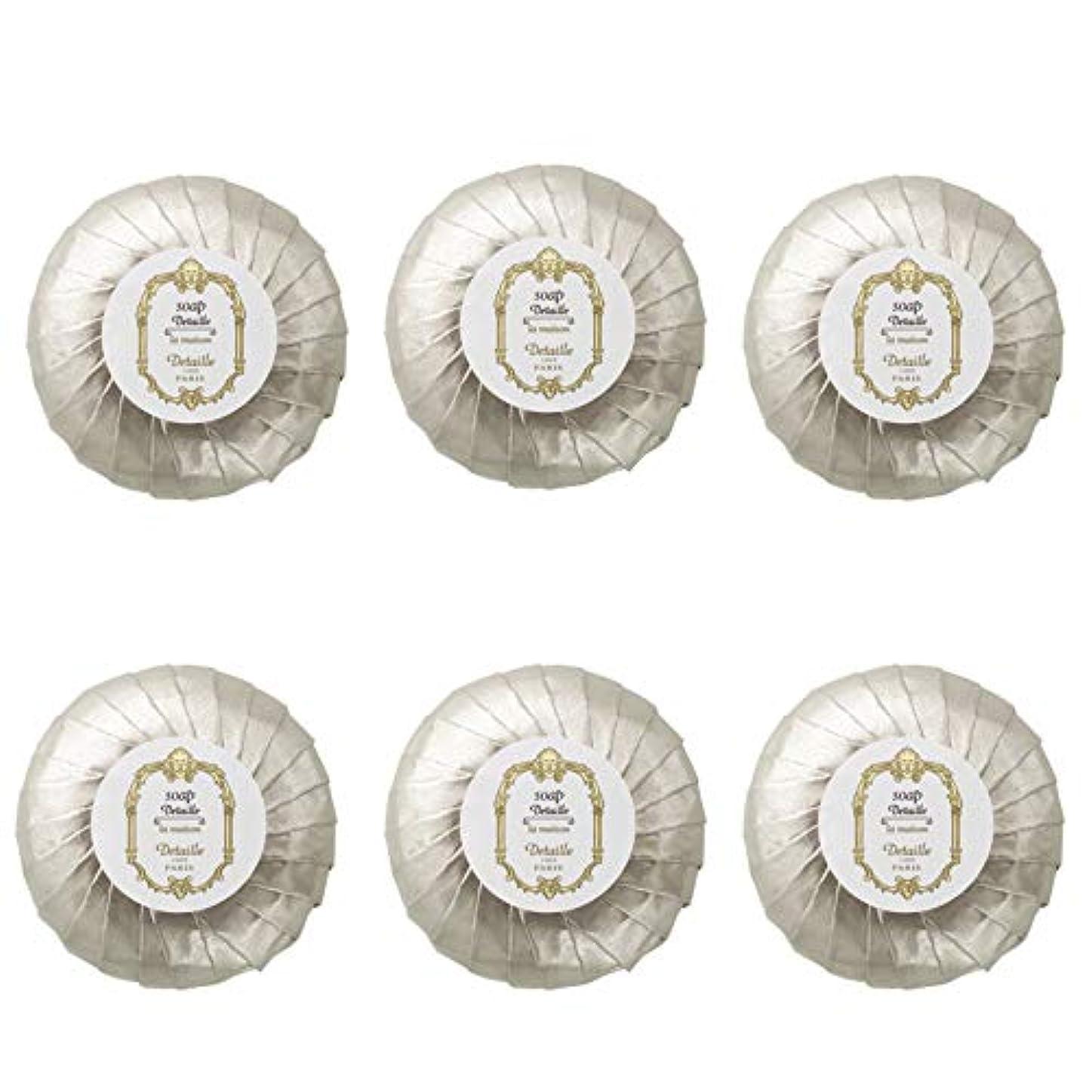 アーチ収穫フィラデルフィアPOLA デタイユ ラ メゾン スキンソープ 固形石鹸 (プリーツ包装) 50g×6個