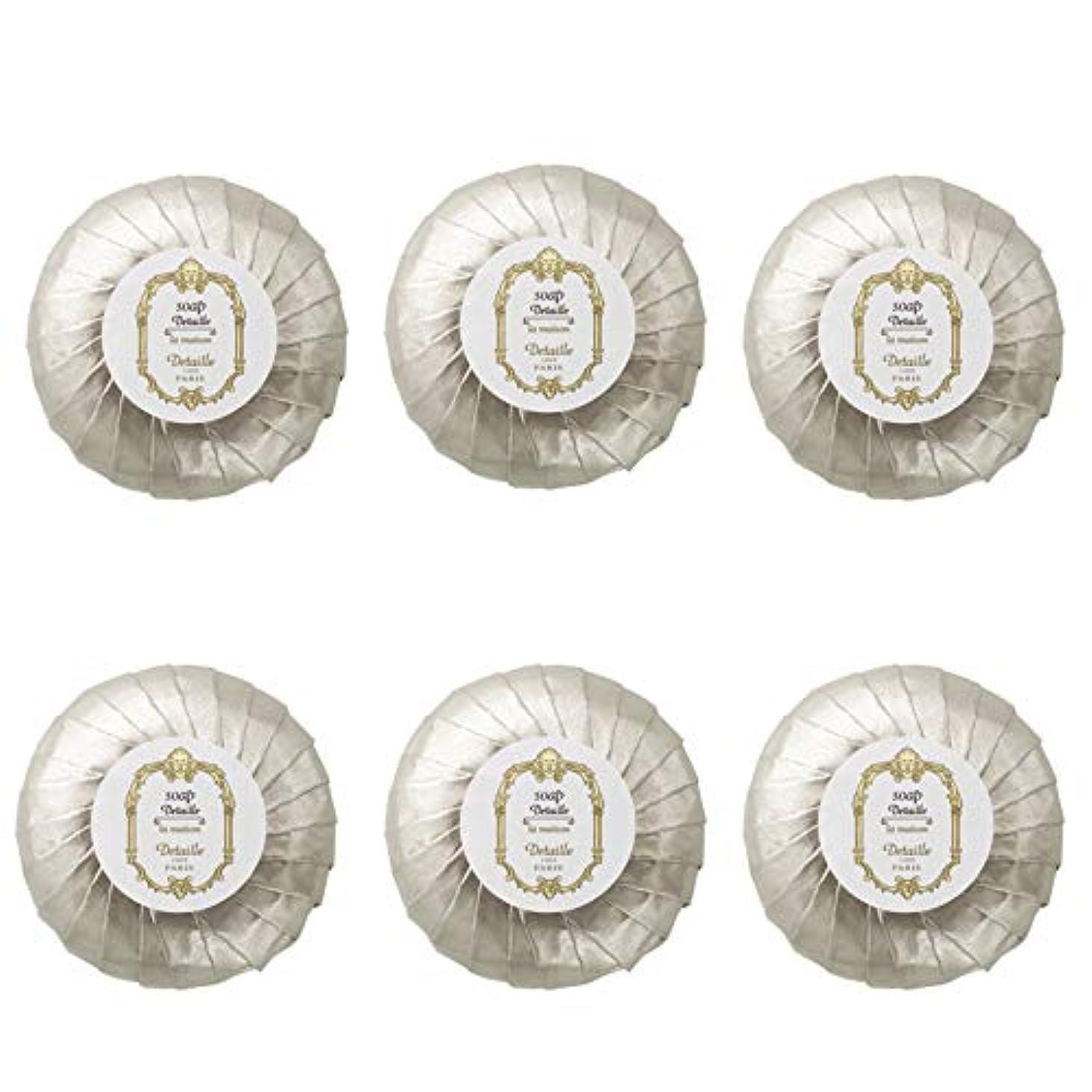 ストレスの多いバイオレットライブPOLA デタイユ ラ メゾン スキンソープ 固形石鹸 (プリーツ包装) 50g×6個