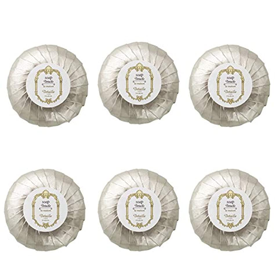平方ターミナルカーフPOLA デタイユ ラ メゾン スキンソープ 固形石鹸 (プリーツ包装) 50g×6個