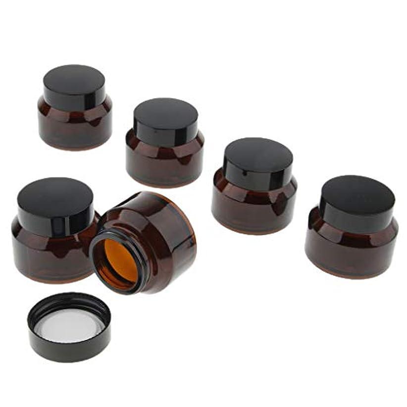 タバコ広告主影響力のあるdailymall ネジ蓋付き6個詰め替え可能な空のガラスクリームリップクリーム容器ジャーポット - 50グラム
