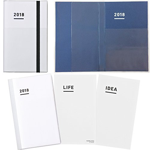 【Amazon.co.jp?限定】 コクヨ ジブン手帳 ファーストキット 2018年 11月始まり A5スリム ホワイト ニ-JF1W-18AM